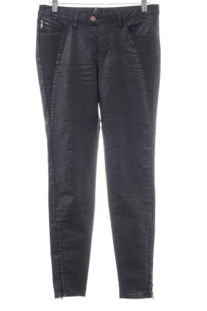Zara Basic Bikerjeans schwarz Casual-Look