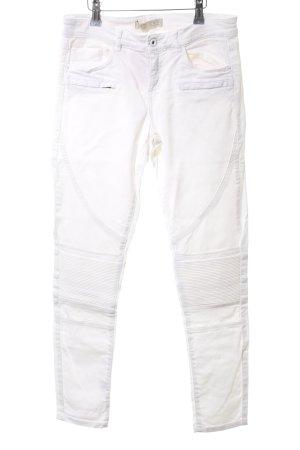 Zara Basic Biker Jeans white casual look