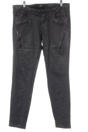 Zara Basic Jeans de moto taupe-argenté Look de motard