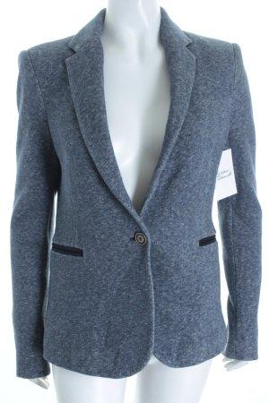 Zara Basic Blazer graublau-wollweiß meliert Casual-Look