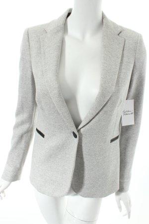 Zara Basic Blazer hellgrau Casual-Look