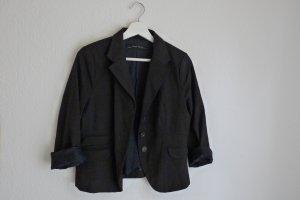 Zara Basic Blazer Jacke S 36 38 schwarz hellgrau liniert Businesslook Fashionstyle Blogger
