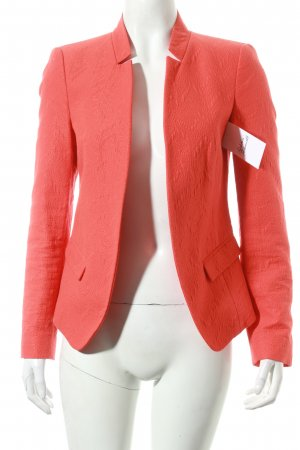 Zara Basic Blazer orange Schimmer-Optik