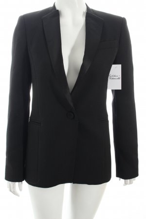 Zara Basic Blazer schwarz Materialmix-Look