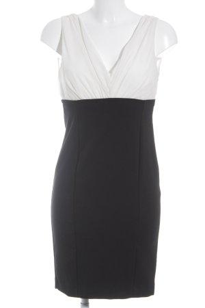 Zara Basic Bleistiftkleid schwarz-weiß Business-Look