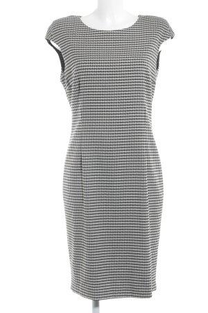 Zara Basic Bleistiftkleid schwarz-weiß Hahnentrittmuster Business-Look