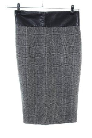 Zara Basic Jupe crayon gris clair-noir motif à carreaux style décontracté