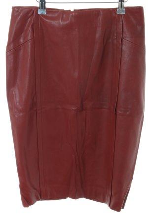 Zara Basic Pencil Skirt red casual look