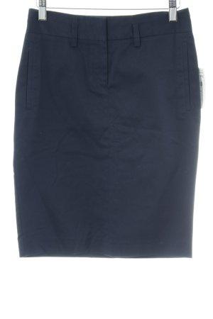 Zara Basic Bleistiftrock dunkelblau Elegant