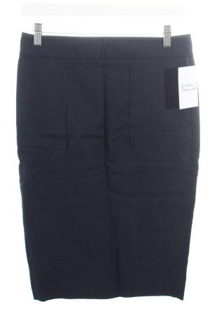 Zara Basic Bleistiftrock dunkelblau klassischer Stil