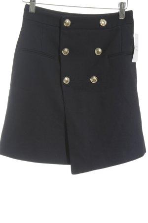 Zara Basic Bleistiftrock dunkelblau Street-Fashion-Look