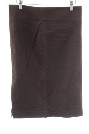Zara Basic Bleistiftrock dunkelbraun Casual-Look