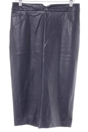 Zara Basic Bleistiftrock graublau Business-Look
