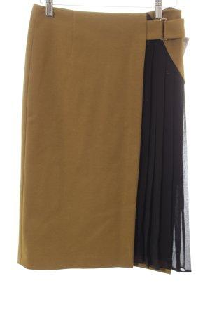 Zara Basic Bleistiftrock khaki-schwarz Street-Fashion-Look