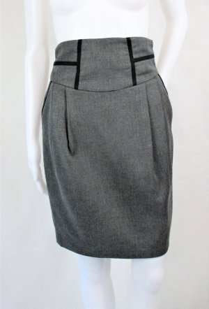 Zara Basic Bleistiftrock/Midirock/Grau/Gr. 34/Hervorragend!