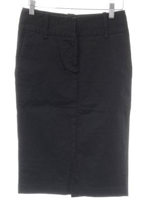 Zara Basic Bleistiftrock schwarz Casual-Look