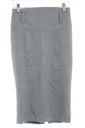 Zara Basic Bleistiftrock schwarz-creme Hahnentrittmuster Business-Look
