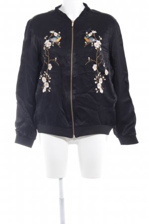 Zara Basic Blouson Blumenmuster Casual-Look