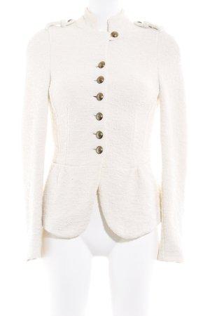 Zara Basic Blousje licht beige klassieke stijl