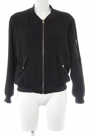 Zara Basic Blouson schwarz Casual-Look