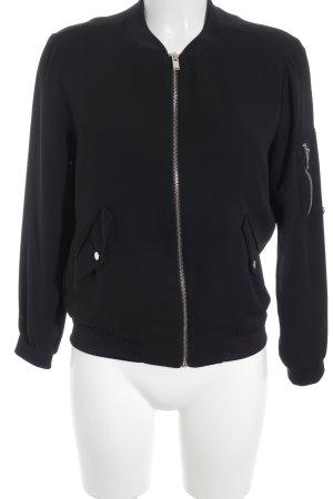 Zara Basic Blouson noir-argenté style urbain