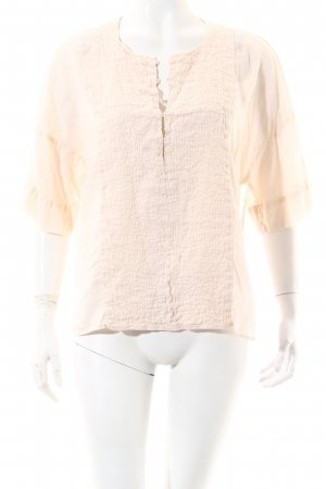 Zara Basic Bluse apricot Casual-Look