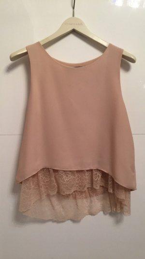 Zara Basic Blusa sin mangas nude-crema
