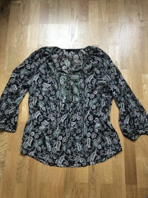 Zara Basic Blusa collo a cravatta multicolore