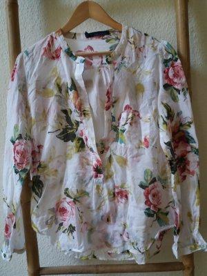 Zara Basic Bluse L mit schönen Blumen bedruckt
