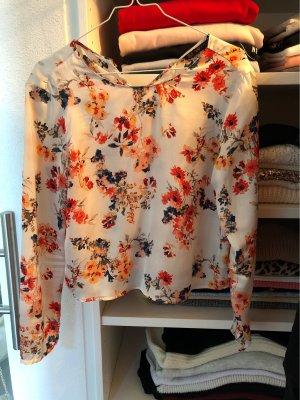 ZARA Basic Bluse mit Blumen