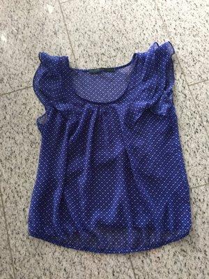 Zara Basic Bluse mit kurzen Volant Ärmel