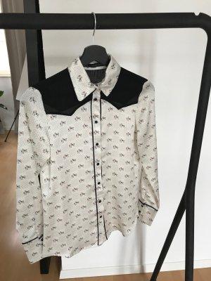 Zara Basic Bluse, mit Muster