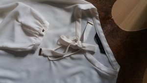 Zara Basic Bluse mit schmaler Schluppe