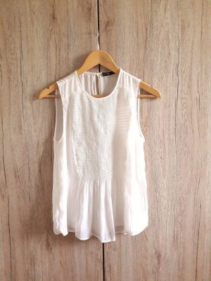 Zara Blusa crema-bianco sporco