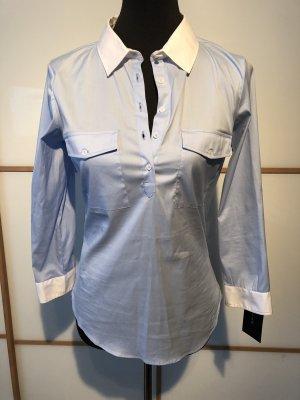 Zara basic Bluse weiß blau M