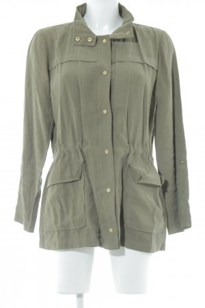 Zara Basic Blusenjacke olivgrün Boyfriend-Look