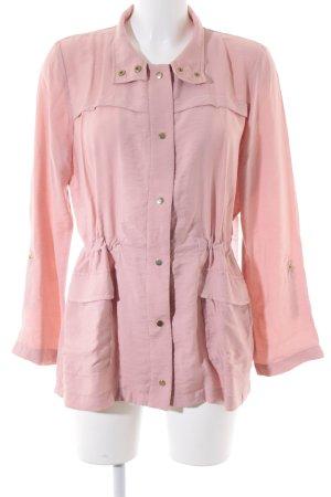 Zara Basic Blusenjacke rosa schlichter Stil