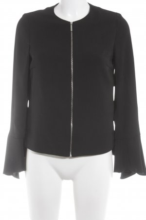 Zara Basic Blusenjacke schwarz Elegant
