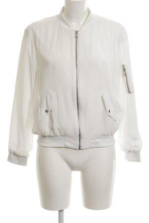 Zara Basic Blusenjacke weiß Casual-Look