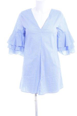 Zara Basic Blouse Dress white-blue striped pattern casual look