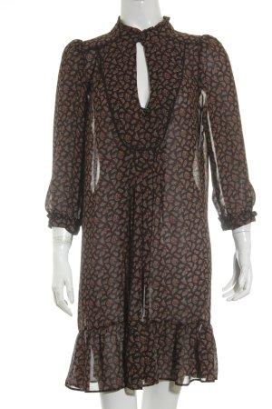 Zara Basic Blusenkleid abstraktes Muster Casual-Look