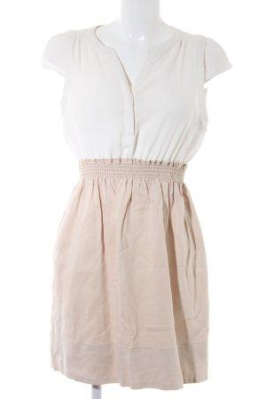 Zara Basic Blusenkleid beige-wollweiß Casual-Look