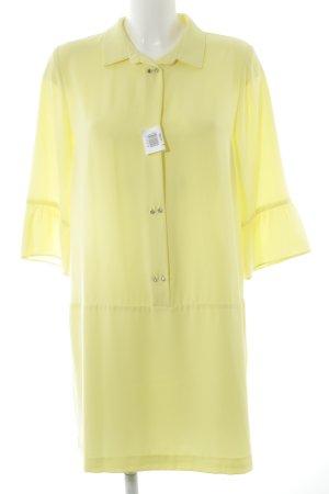 Zara Basic Blusenkleid blassgelb Elegant