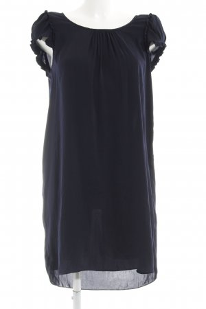 Zara Basic Blusenkleid dunkelblau Casual-Look