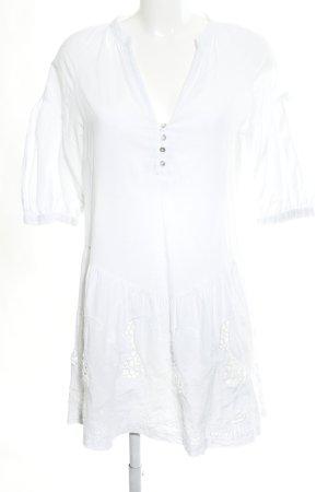 Zara Basic Blusenkleid weiß Casual-Look