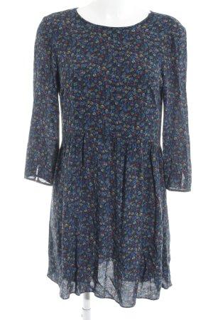 Zara Basic Blusenkleid Farbtupfermuster minimalistischer Stil