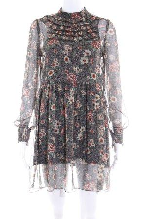 Zara Basic Blusenkleid florales Muster Romantik-Look
