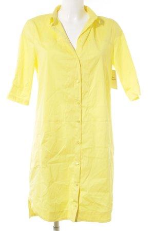 Zara Basic Blusenkleid gelb Casual-Look