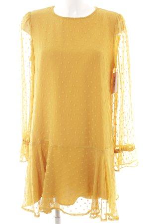 Zara Basic Blusenkleid goldorange Punktemuster Elegant