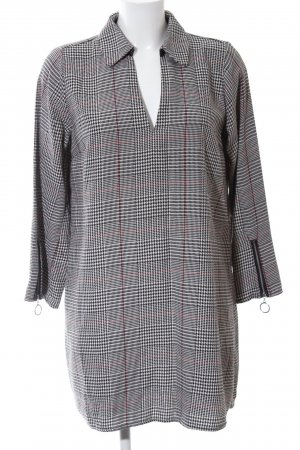 Zara Basic Blouse Dress houndstooth pattern casual look